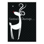 "Season's Greetings Reindeer Party Invitation 5"" X 7"" Invitation Card"