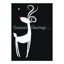 Season's Greetings Reindeer Party Invitation