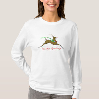 Season's Greetings Reindeer T-Shirt