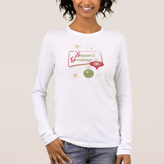 Season's Greetings Retro Style Christmas Long Sleeve T-Shirt