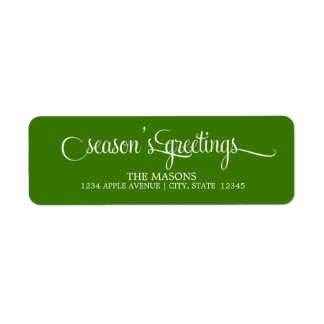 Season's Greetings | Return Address Label