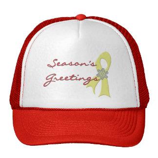 Season's Greetings Ribbon Hat