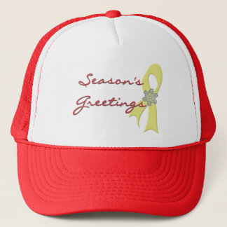 Season's Greetings Ribbon Trucker Hat
