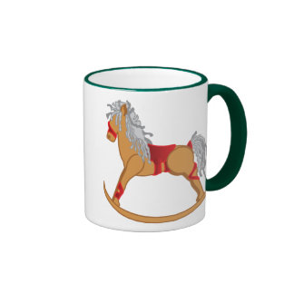 Seasons Greetings Rocking Horse Mugs