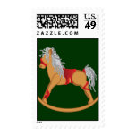 Seasons Greetings: Rocking Horse Postage Stamps