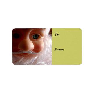 Season's Greetings Santa Beard Gift Label