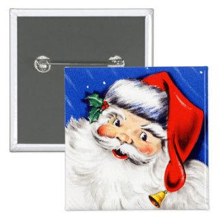 Seasons Greetings Santa Button