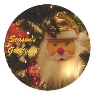 Season's Greetings Santa Claus sticker