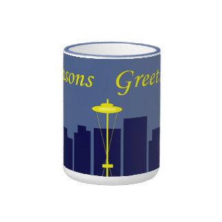 Seasons Greetings Seattle Ringer Mug