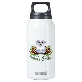 SEASONS GREETINGS 10 OZ INSULATED SIGG THERMOS WATER BOTTLE