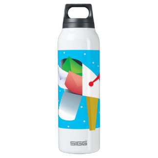 Seasons Greetings 16 Oz Insulated SIGG Thermos Water Bottle