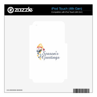 Season's Greetings Decals For iPod Touch 4G