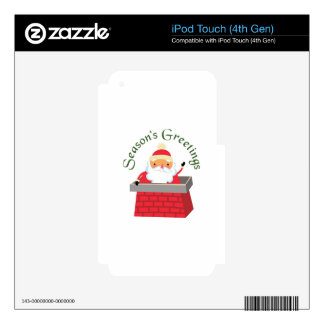 Seasons Greetings Skins For iPod Touch 4G