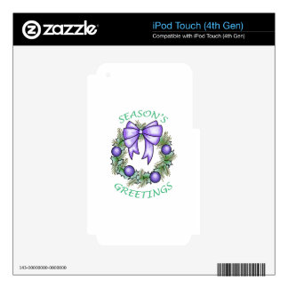 Seasons Greetings Decal For iPod Touch 4G