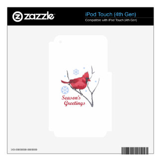 SEASONS GREETINGS DECALS FOR iPod TOUCH 4G