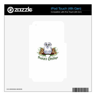 SEASONS GREETINGS iPod TOUCH 4G DECAL