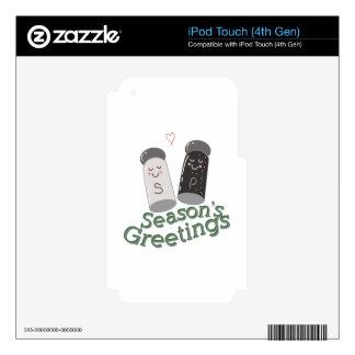 Seasons Greetings iPod Touch 4G Skin