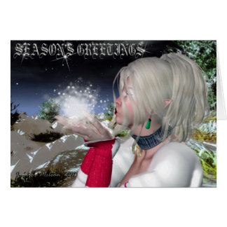 Seasons Greetings Snow Elf Series Card