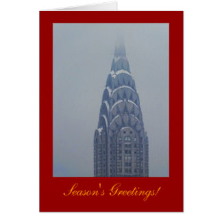 Seasons Greetings: Snowcapped Chrysler Building A1 Card
