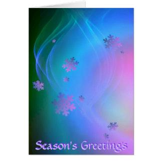 Season's Greetings - Snowflake Greeting Card