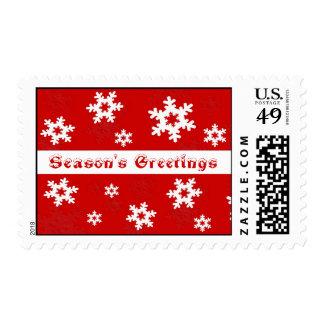 Season's Greetings  Snowflake Stamp