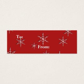 seasons greetings snowflakes mini business card