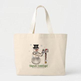 Seasons Greetings Snowman Bag