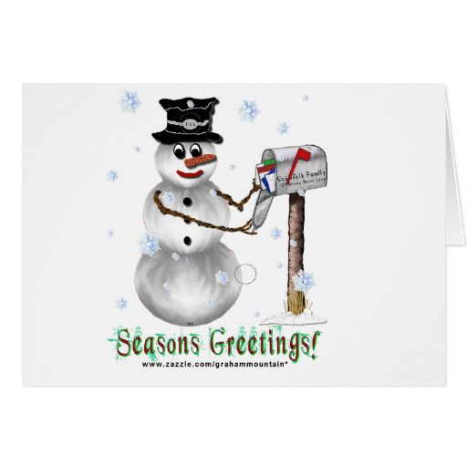 Seasons Greetings Snowman Card