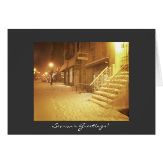 Season's Greetings - Snowy City Card