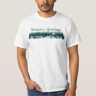 Season's Greetings Snowy Mountain Holiday T-Shirt