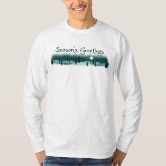 Season's Greetings Snowy Mountain Long Sleeve Tee