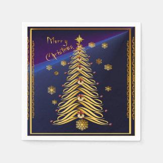 Seasons Greetings Soft Tree Poster Disposable Napkins