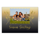 Seasons Greetings Sparkle Gold Card