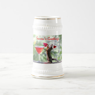 Season's Greetings Squirrel Beer Stein