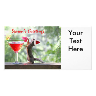 Season's Greetings Squirrel Card