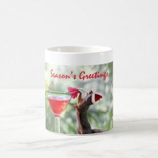 Season's Greetings Squirrel Coffee Mug