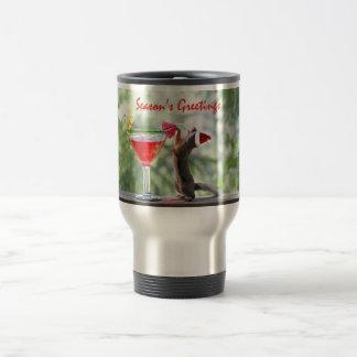 Season's Greetings Squirrel Travel Mug