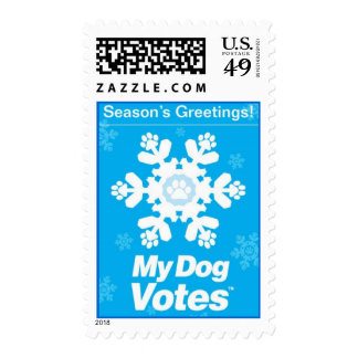 Season's Greetings Stamp From My Dog Votes