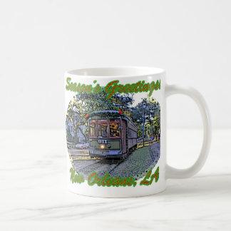 Season's Greetings Streetcar Coffee Mug