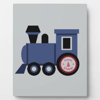 Seasons Greetings Train Plaque