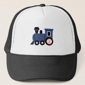 Seasons Greetings Train Trucker Hat