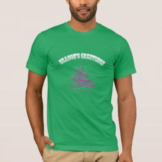 Season's Greetings Tree Snowflake Men's T-shirts