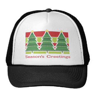 Season's Greetings Trees Mesh Hats