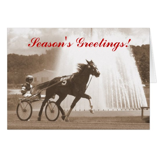 Season's Greetings Trotter Harness Racing Card