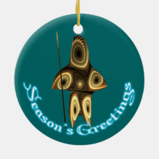 Season's Greetings - Tuvaaq Ceramic Ornament