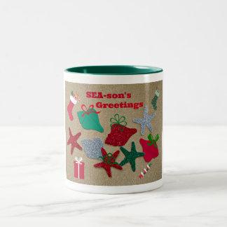 SEAson's Greetings Two-Tone Coffee Mug