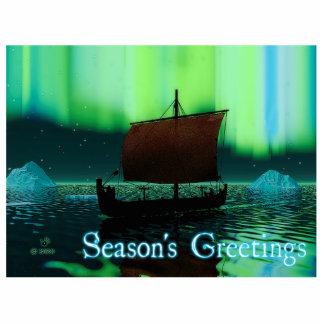 Season's Greetings - Viking Ship Statuette