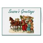 Season's Greetings (vintage carriage) Greeting Cards