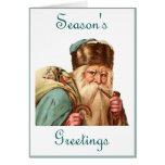 Season's Greetings (vintage santa) Greeting Card
