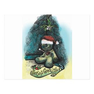 Season's Greetings Voodoo Holiday Greeting Card